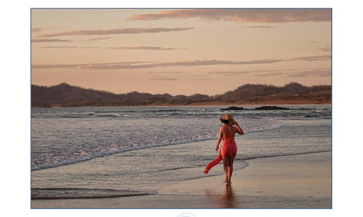 Painterley portraits on the beach in Tamarindo, Costa Rica