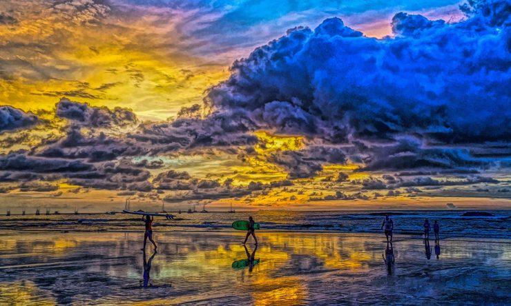 Tamarindo Beach Sunset in Rainy Season