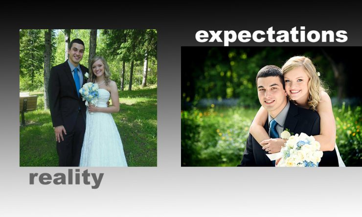 Reality vs Expectations in wedding photography…