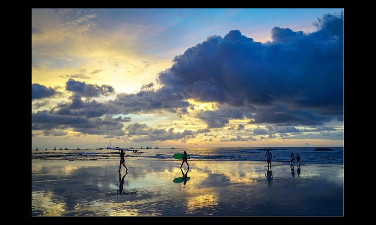 Sunsets in rainy season on Tamarindo beach