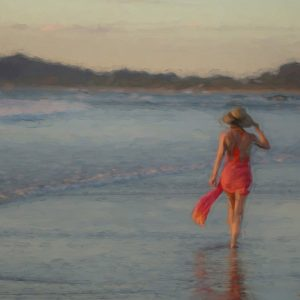 lady-walking-beach-oceanside-costa-rica-art-photography