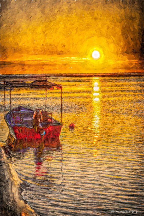 ocean-bay-boat-costa-rica-art-photography