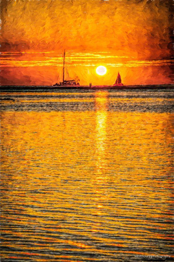 sunset-astoria-costa-rica-sailboat-abstract-photo-art-poster