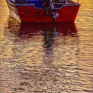 sunset-boat-bay-costa-rica-photo-art