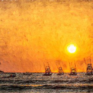 yachts-sunset-mooring-ships-ocean-fishing-costa-rica-art-photo