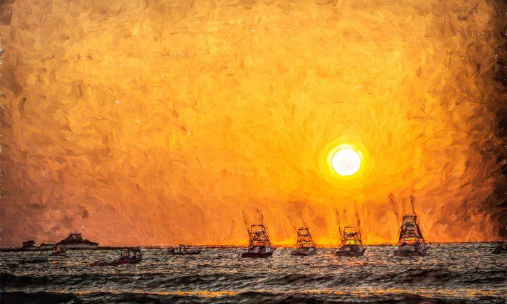 Tamarindo Beach Sunset & Boats